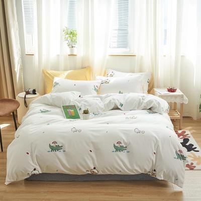 2020新款-小清新四件套 床单款四件套1.5m(5英尺)床 鸡蛋仔