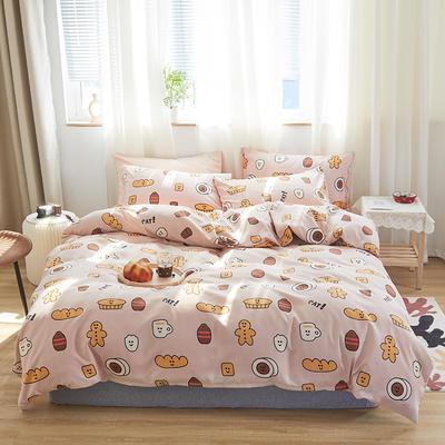 2020新款-小清新四件套 床单款四件套1.5m(5英尺)床 巧克力
