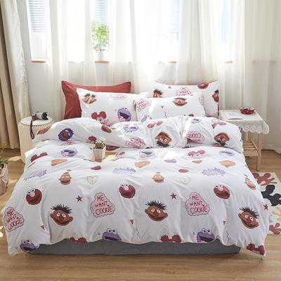 2020新款-小清新四件套 床单款四件套1.5m(5英尺)床 芝麻gai