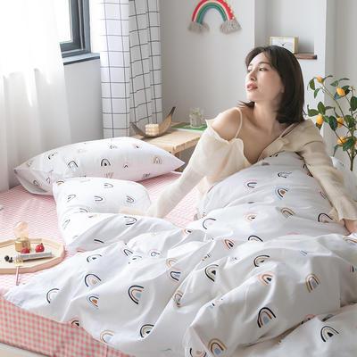 2020新款-纯棉系列四件套 床单款四件套1.5m(5英尺)床 彩虹布蕾