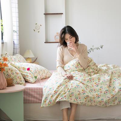 2020新款-纯棉系列四件套 床单款四件套1.5m(5英尺)床 春色怡人