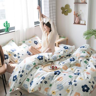 2020新款-纯棉系列四件套 床单款四件套1.5m(5英尺)床 春意盎然