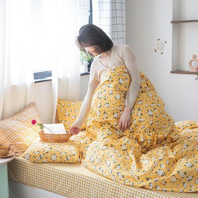 2020新款-纯棉系列四件套 床单款四件套1.5m(5英尺)床 浪漫蜜语