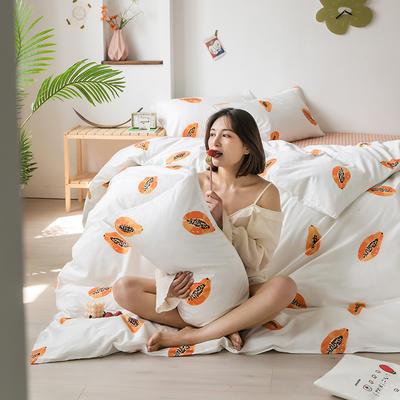2020新款-纯棉系列四件套 床单款四件套1.5m(5英尺)床 觅香果