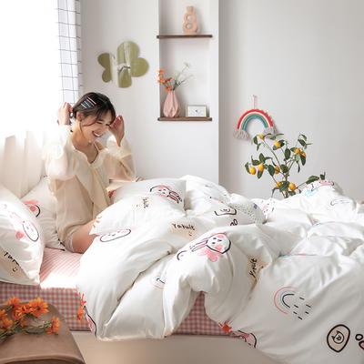 2020新款-纯棉系列四件套 床单款四件套1.5m(5英尺)床 巧乐兹