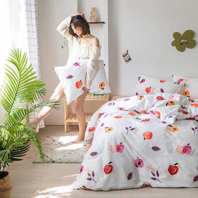 2020新款-纯棉系列四件套 床单款四件套1.5m(5英尺)床 乌龙红了
