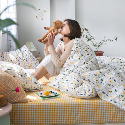 2020新款-纯棉系列四件套 床单款四件套1.5m(5英尺)床 布朗熊熊