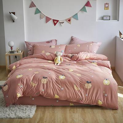 2020新款-针织棉四件套 1.8m床单款四件套 水果派