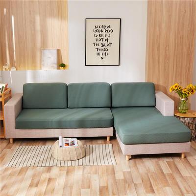 2020新款-全包沙发套 单人坐垫套 草绿