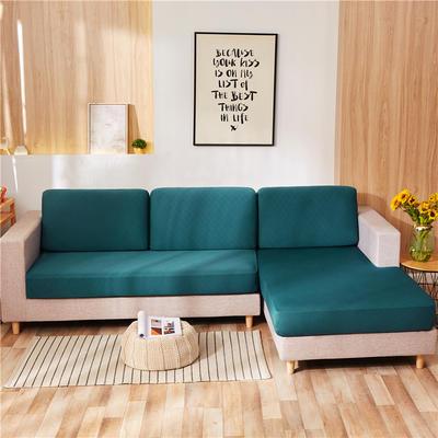2020新款-全包沙发套 单人坐垫套 墨绿