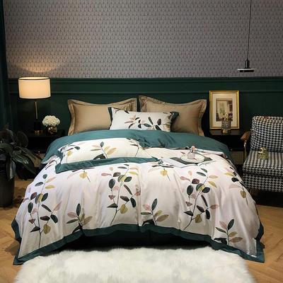 2020新款60长绒棉数码印花四件套 1.8m床单款四件套 清晨
