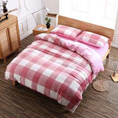 茵菲家纺 良品风水晶绒四件套 标准(1.5m床) 粉格