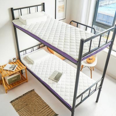 2021新款空气纤维床垫三折垫(学生床垫) 90*200cm 乳白色