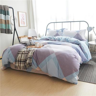 随性家居 纯棉阳绒四件套贡缎磨毛 记忆生活 1.5m(5英尺)床 记忆生活