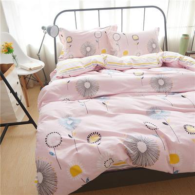 随性家居 纯棉阳绒四件套贡缎磨毛 爱的蒲公英 1.5m(5英尺)床 爱的蒲公英
