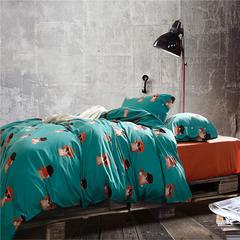 随性家居 长绒棉印花系列 辛巴 1.5m(5英尺)床 辛巴
