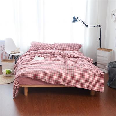1504-色织水洗棉四件套-随性家居 标准(200x230cm) 1504艾米