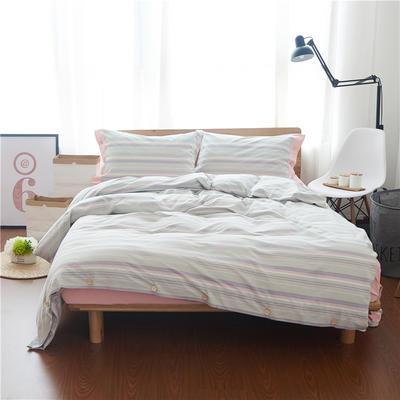 1504-色织水洗棉四件套-随性家居 标准(200x230cm) 1504吉娜