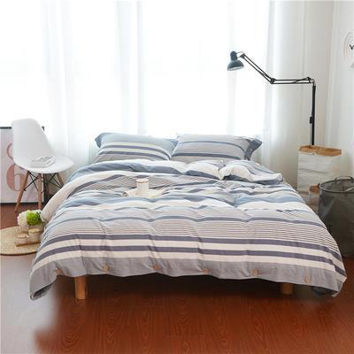1504-色织水洗棉四件套-随性家居 标准(200x230cm) 1504罗贝尔