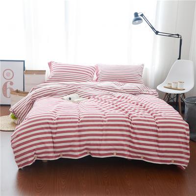 1504-色织水洗棉四件套-随性家居 标准(200x230cm) 1504雪莉