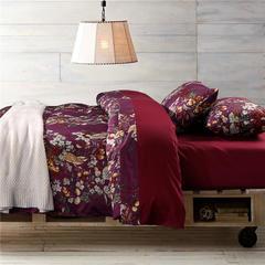 1508-长绒棉印花四件套-随性家居 标准(200x230cm) 艾米莉