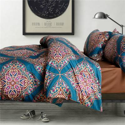 1508-长绒棉印花四件套-随性家居 标准(200x230cm) 杰西卡