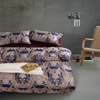 1508-长绒棉印花四件套-随性家居 标准(200x230cm) 莫妮卡