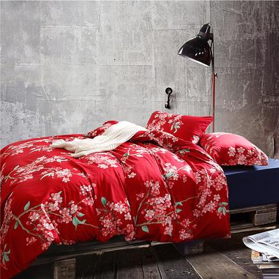 1508-长绒棉印花四件套-随性家居 标准(200x230cm) 维纳斯