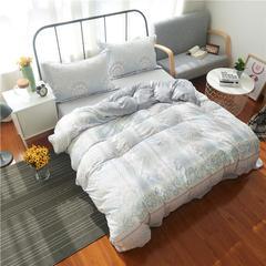 2201-雕花绒四件套-随性家居 标准1.5/1.8米床(床单款) 千与千寻-灰