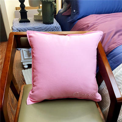 随性纯色靠垫 45x45cm 嫩粉