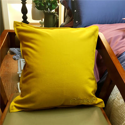 随性纯色靠垫 45x45cm 姜黄