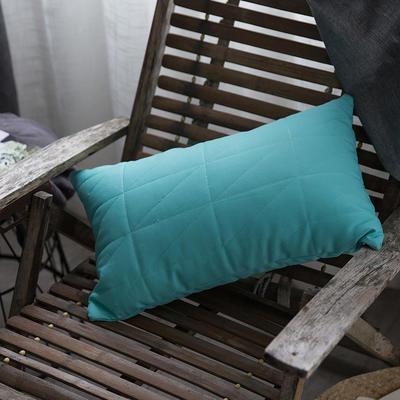 随性绗绣长枕靠垫-薄荷绿 35*50 薄荷绿