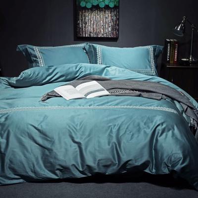 随性TJ1989-100S海岛棉四件套 标准床单款200*230 沁  (炽绿)