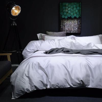 随性TJ1989-100S海岛棉四件套 标准床单款200*230 沁  (莘白)