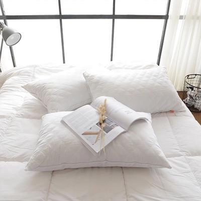 全棉单边绗缝枕 全棉单边绗缝中枕(48*74)