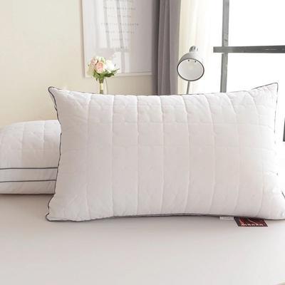 双边绗缝-灰色 双边绗缝灰色低枕48*74cm