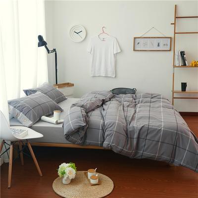 1504色织水洗棉四件套 1.5m(5英尺)床 1504比尔