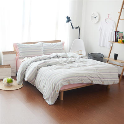 1504色织水洗棉四件套 1.5m(5英尺)床 1504吉娜