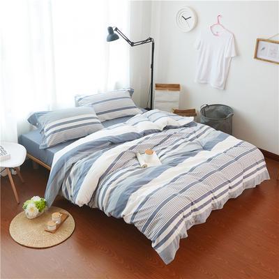 1504色织水洗棉四件套 1.5m(5英尺)床 1504罗贝尔