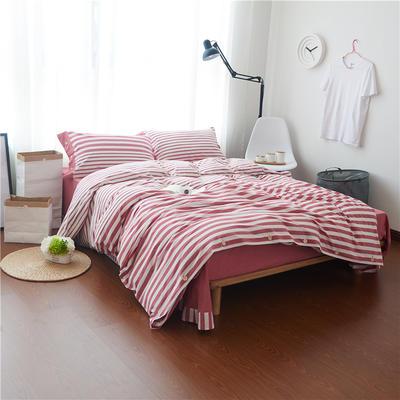 1504色织水洗棉四件套 1.5m(5英尺)床 1504雪莉