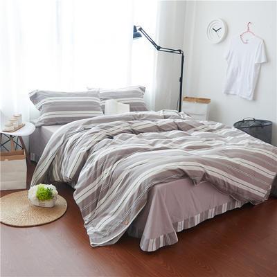 1504色织水洗棉四件套 1.8m(6英尺)床 1504亚尔林