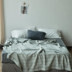 2018新款-JJ6020-莱恩空气棉水洗休闲毯 200*230cm 抹茶绿