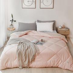 2018新款-bx2064帕克斯全棉色纺冬被被子被芯 200X230cm/4.5斤 粉黄