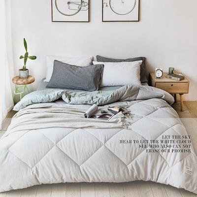 2019新款-bx2064帕克斯全棉色纺冬被被子被芯 200X230cm/6斤 灰绿