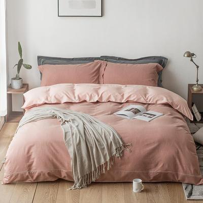 2019新款-tj1535尼维长绒棉色纺四件套 1.5m(5英尺)床 苏木橙
