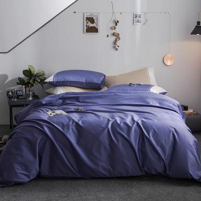 2019新款-TJ1534-慕尚长绒棉绣花四件套 1.5m(5英尺)床 风信紫