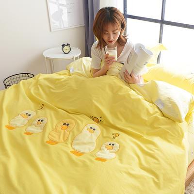 1606-绣花工艺四件套 标准(200x230cm) 大黄鸭