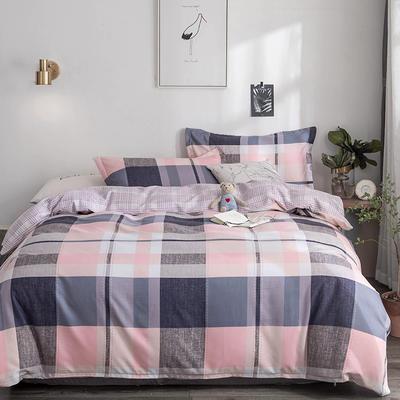 2019新款-TJ1554-亲肤抗菌磨毛四件套 床单款1.5m(5英尺)床 文艺复兴