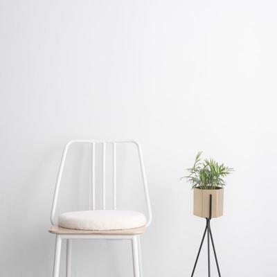 2019新款-JJ6070-暖萌萌坐垫 直径40*40 白色