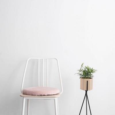2019新款-JJ6070-暖萌萌坐垫 直径40*40 粉色